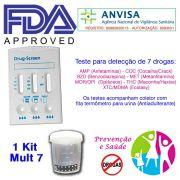 01 Kit para testes de sete substâncias com coletor de urina