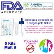 05 Kits para testar oito substâncias com coletor