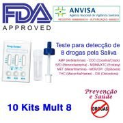 10 Kits para teste 8 substâncias