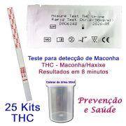25 Kits para teste de THC com coletor de urina