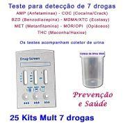 25 Kits para testes de 7 substâncias