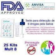 25 Kits para testar oito substâncias com coletor