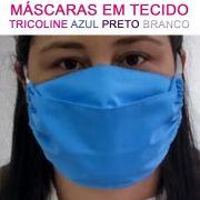 100 Máscaras em Tecido Tricoline - Lavável e Reutilizável