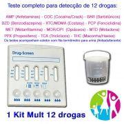 Teste completo para detecção de doze drogas pela urina