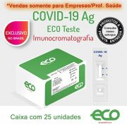 Teste Rápido COVID-19 Ag - Antígeno - Caixa com 25 unidades