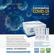Teste Rápido COVID-19 IgM/IgG - Wama - Caixa com 25 unidades