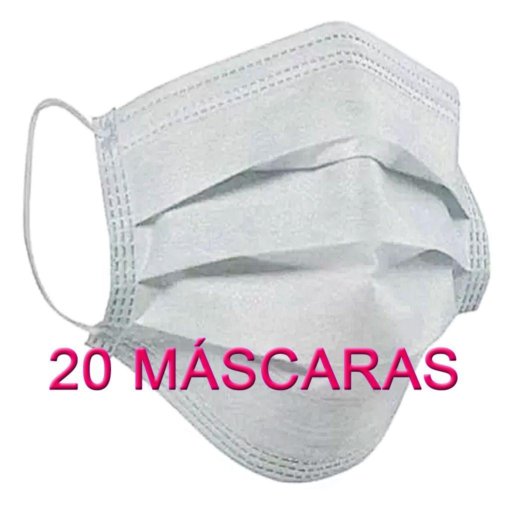 20 Máscaras em TNT duplo branco  - Testes Para Drogas e COVID-19. Máscaras e Como Parar de Beber e Fumar