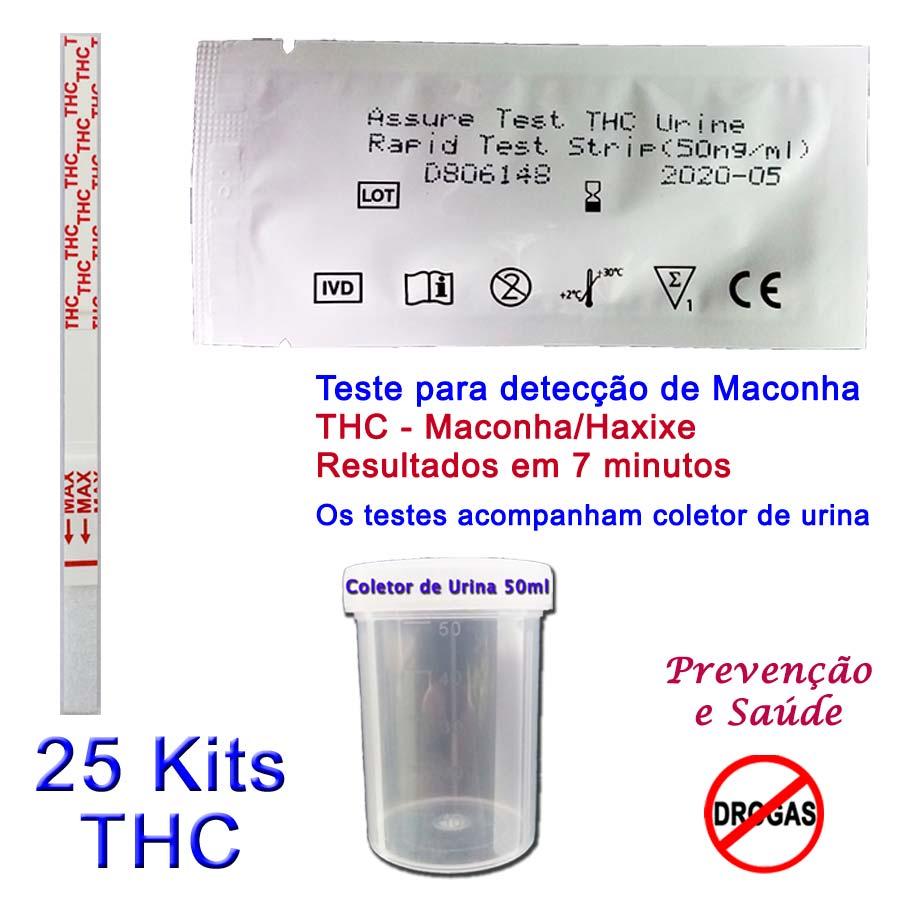 25 Kits para teste de THC com coletor de urina  - Prevenção e Saúde