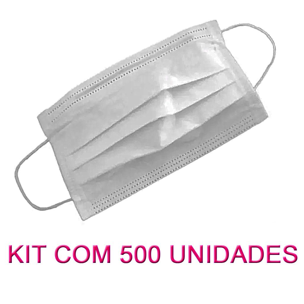 500 Máscaras em TNT duplo branco  - Testes Para Drogas e Parar de Beber e Fumar
