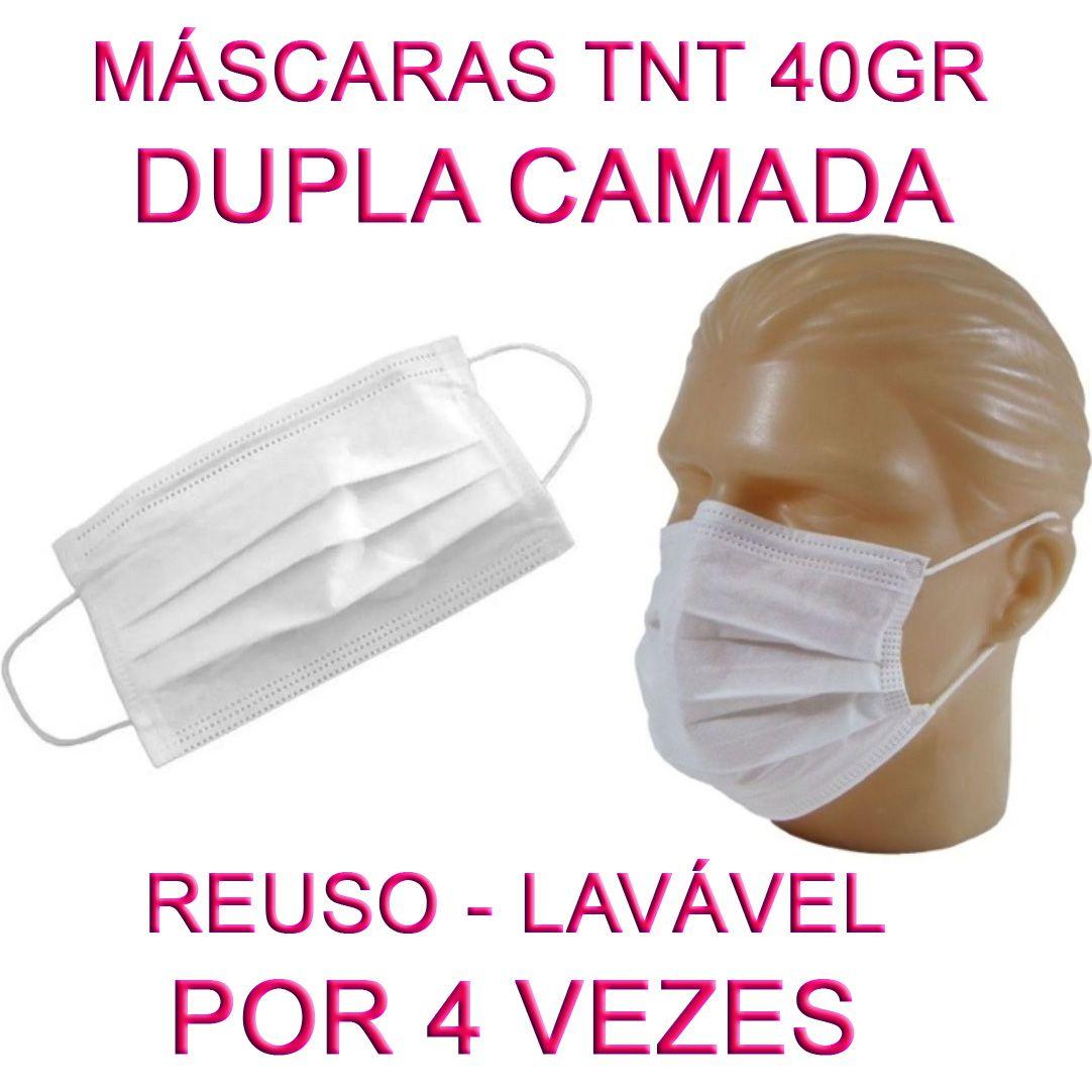 50 Máscaras em TNT duplo branco  - Testes Para Drogas e Parar de Beber e Fumar