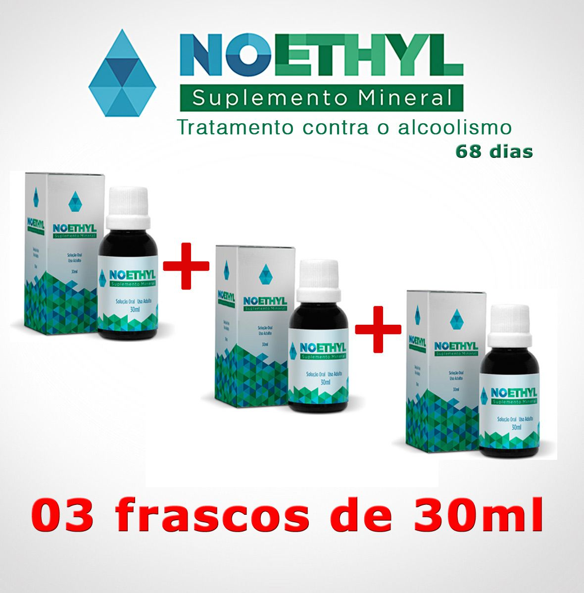 Anti-alcool NOETHYL 03 frascos  - Prevenção e Saúde