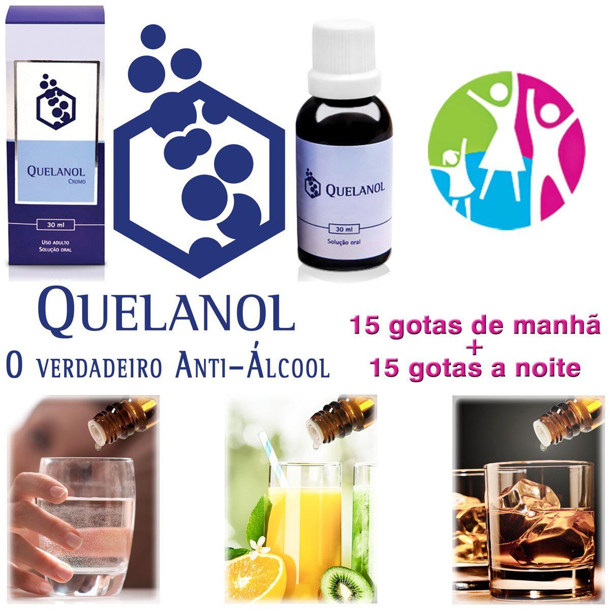 Anti-álcool Quelanol 03 frascos  - Prevenção e Saúde