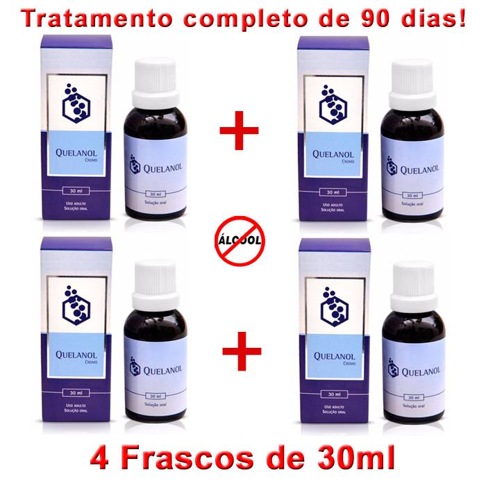 Anti-álcool Como Parar de Beber com 04 frascos de Quelanol   - Prevenção e Saúde