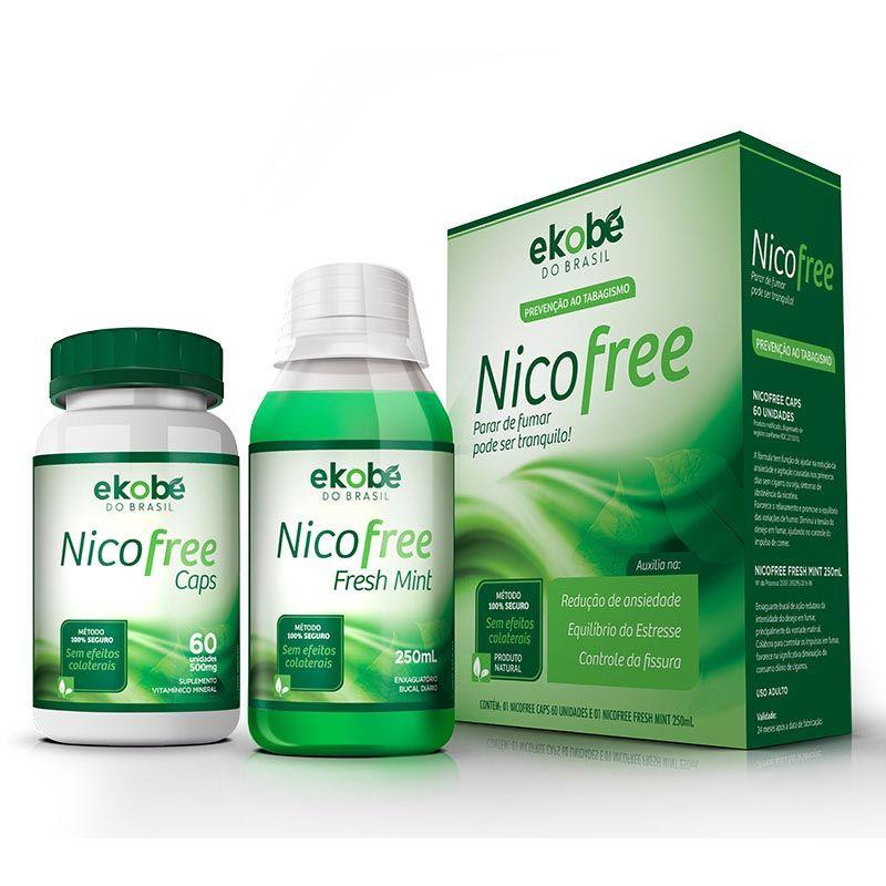 Kit Nico Free Antitabagismo  - Testes Para Drogas e COVID-19. Máscaras e Como Parar de Beber e Fumar