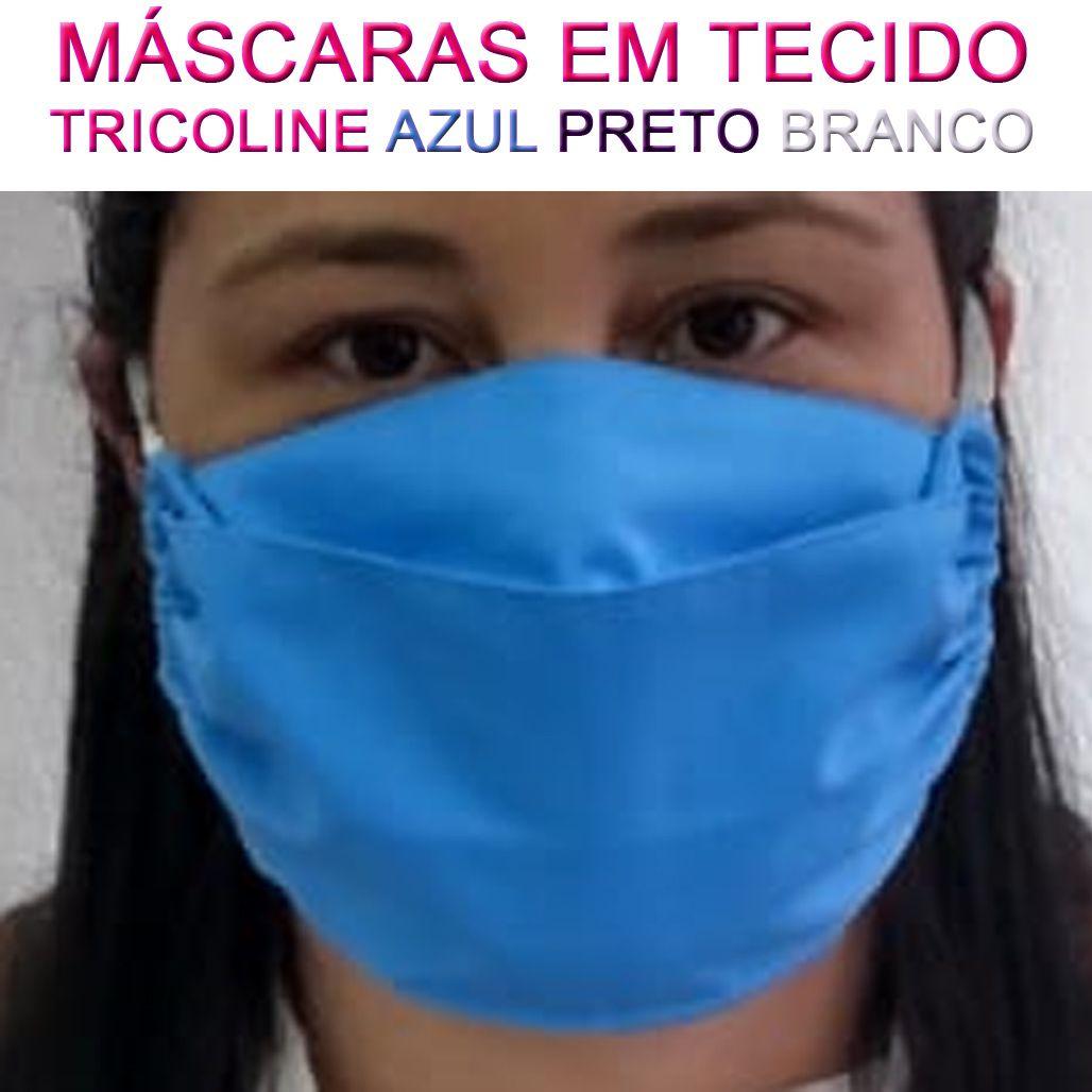 10 Máscaras em Tecido Tricoline - Lavável e Reutilizável  - Testes Para Drogas e COVID-19. Máscaras e Como Parar de Beber e Fumar
