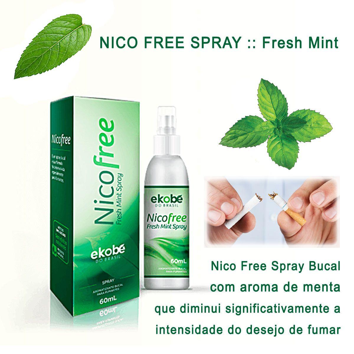 NicoFree Spray Parar de Fumar 3 Frascos  - Testes Para Drogas e Parar de Beber e Fumar