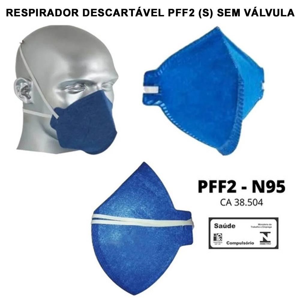 Máscara Descartável PFF-2 S - N95 Com CA 38.504 - 10 Unidades  - Testes Para Drogas e COVID-19. Máscaras e Como Parar de Beber e Fumar