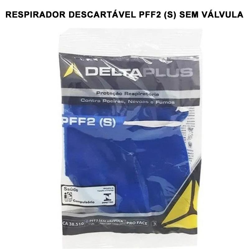 Máscara Descartável PFF-2 S - N95 Com CA 38.504 - 5 Unidades  - Testes Para COVID e Drogas. Máscaras Descartáveis e Suplementos e Anti Tabaco