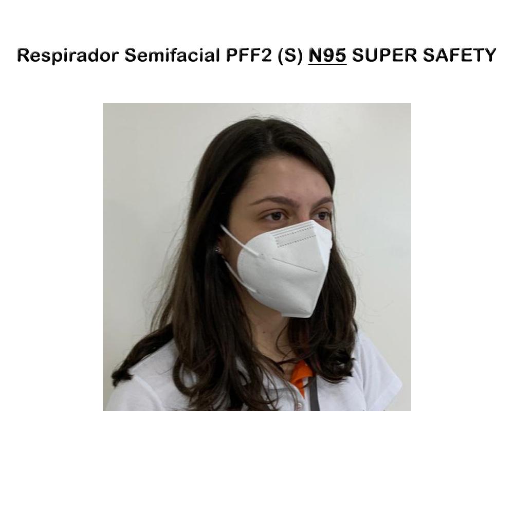 Máscara Facial Descartável N95 PFF2 (S) - 50 Peças  - Testes Para Drogas e COVID-19. Máscaras e Como Parar de Beber e Fumar