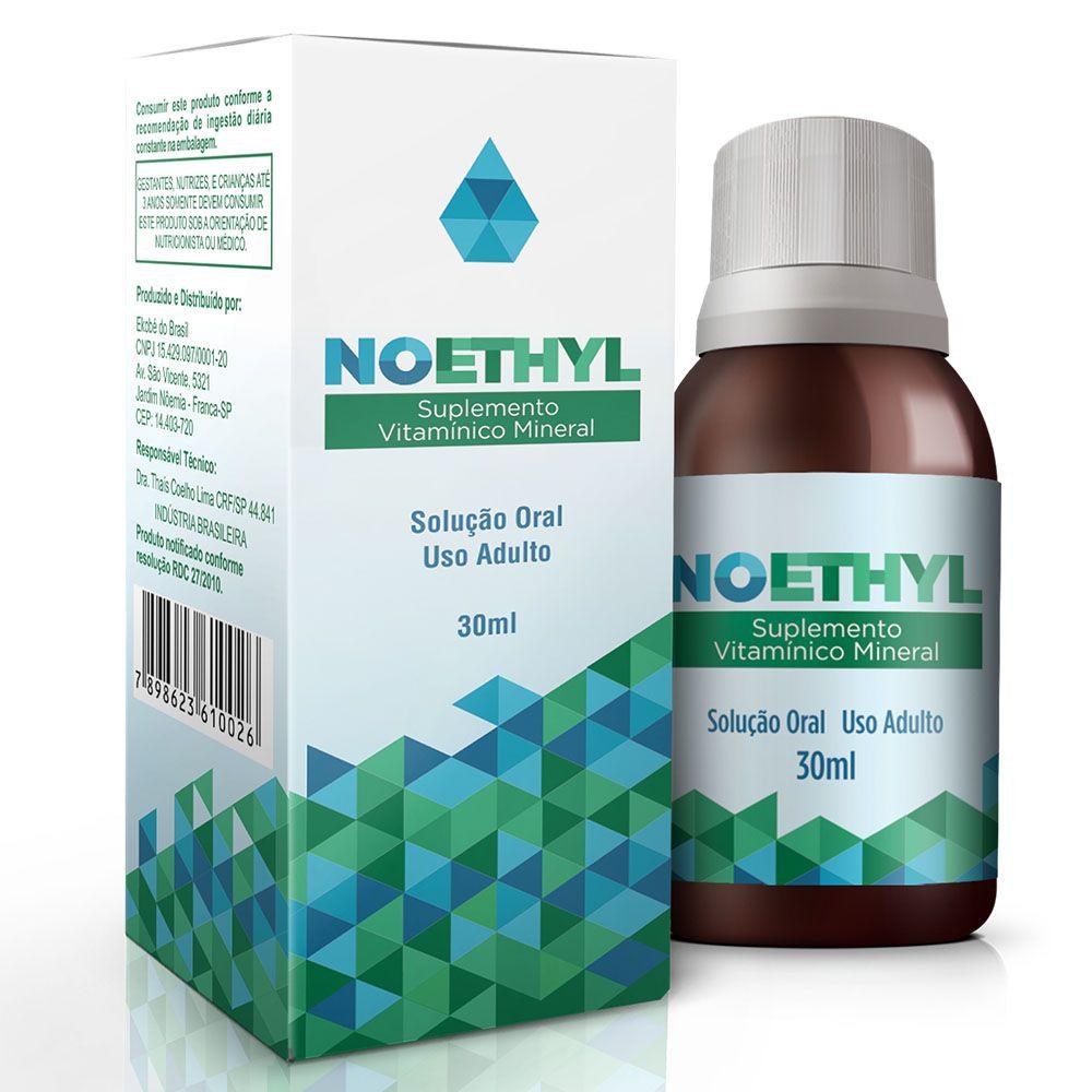Suplemento NOETHYL 03 frascos  - Testes Para COVID e Drogas. Máscaras Descartáveis e Suplementos e Anti Tabaco