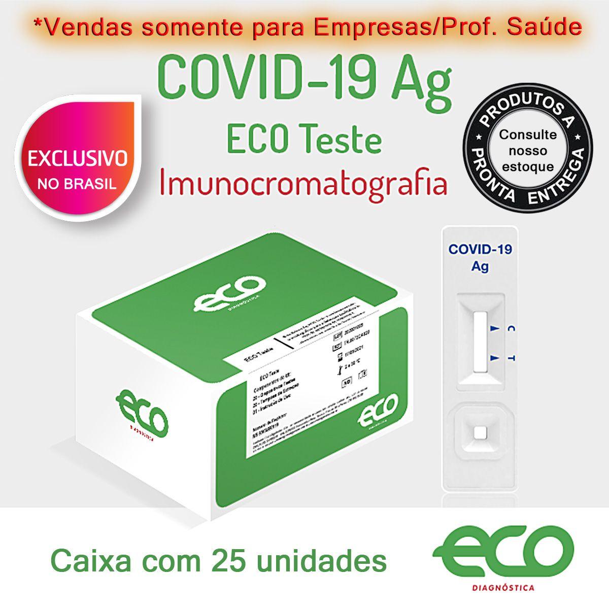 Teste Rápido COVID-19 Ag - Antígeno - Caixa com 25 unidades  - Testes Para Drogas e COVID-19. Máscaras e Como Parar de Beber e Fumar