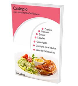 Cardápio para Restaurantes Self-Service - Volume 2  - GR - Treinamento em Gestão de Restaurantes e Gastronommia