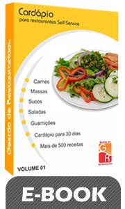 Cardápio para Restaurantes Self-Service - Volume 1 - Digital  - GR - Treinamento em Gestão de Restaurantes e Gastronommia