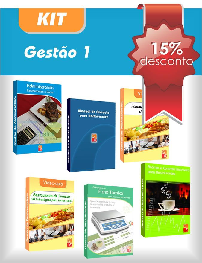 Kit Gestão 1 - Digital  - GR - Treinamento em Gestão de Restaurantes e Gastronommia