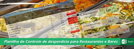 Planilha de Controle de Desperdício de alimentos para Restaurantes - COD: 0215  - GR - Treinamento em Gestão de Restaurantes e Gastronommia