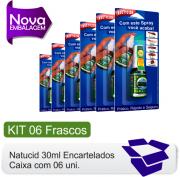 06 uni. Natucid 30ml Cartelas Inseticida eficaz contra, Formigas doceira e cortadeira.