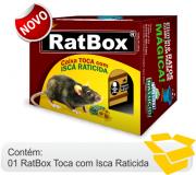 Natucid RatBox toca com isca Raticida altamente atrativa  montagem fácil.