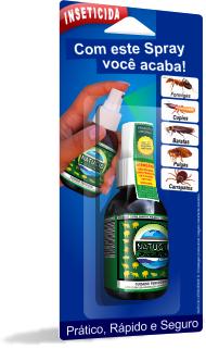 Inseticida dedetização eficaz contra Formigas, Cupins, Baratas, Pulgas e Carrapatos Natucid 100ml Cartelas 03 uni.