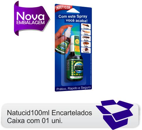 01 Frasco Natucid Formigas 100ml uso residencial eficaz contra Formigas, Cupins, Baratas, Pulgas e Carrapatos.