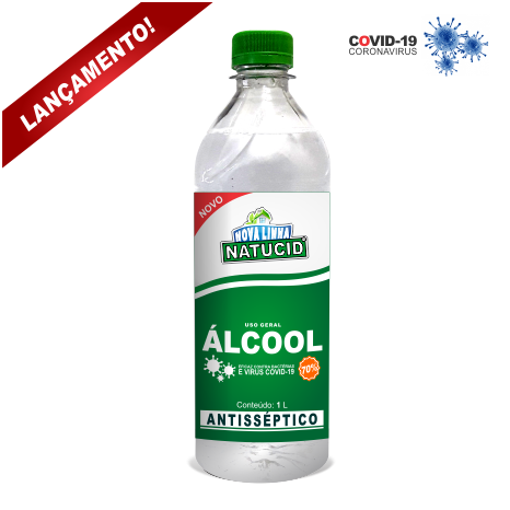 Natucid Álcool Etílico Hidratado 70% 1L