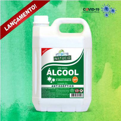 Natucid Álcool Etílico Hidratado 70% galão 5L