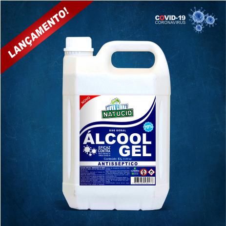 NATUCID Álcool Gel 70% Antisséptico Higienizador 5L