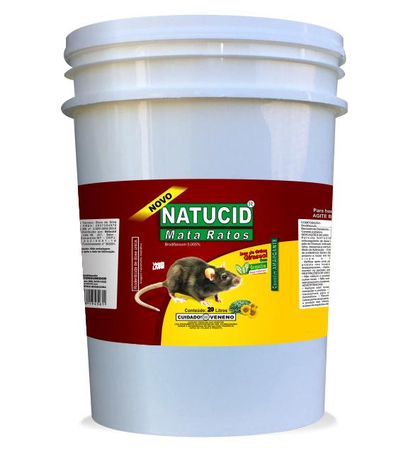 Natucid Mata Ratos Girassol Balde 20 litros