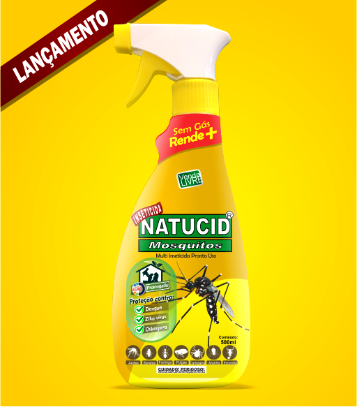 Natucid Mosquitos Multi Inseticida Pronto Uso 500ml