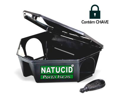 Natucid Porta iscas Profissional com chave, Prático Rápido e Seguro.