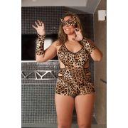 Fantasia Macaquinho Tigresa - Plus Size - Aline Lingerie