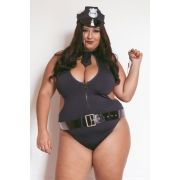 Fantasia Policial Canadense Plus Size - Aline Lingerie