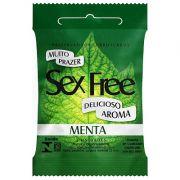 Preservativo Lubrificado Sex Free - Aroma Menta