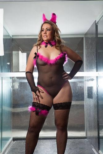 Fantasia Coelhinha Playboy Plus Size - Aline Lingerie