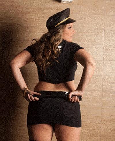 Fantasia Policial Americana Plus Size - Aline Lingerie