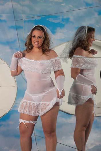 Fantasia Vestido de Noiva Plus Size -  Aline Lingerie