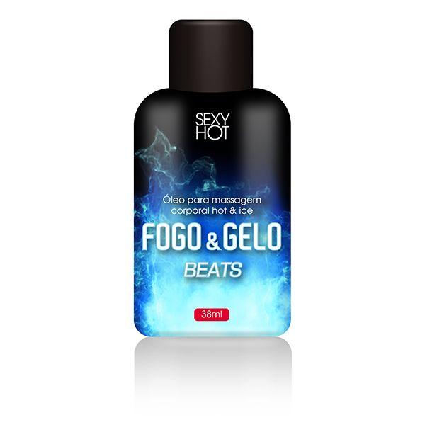 Óleo para massagem beijável FOGO E GELO - Beats 38mL