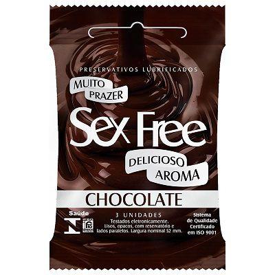 Preservativo Lubrificado Sex Free - Aroma Chocolate
