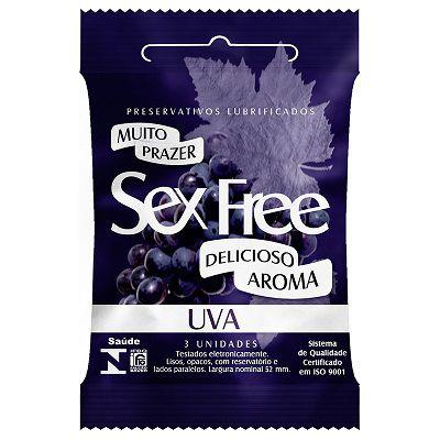 Preservativo Lubrificado Sex Free - Aroma Uva