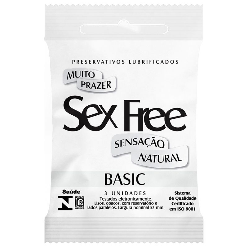 Preservativo Lubrificado Sex Free - Basic