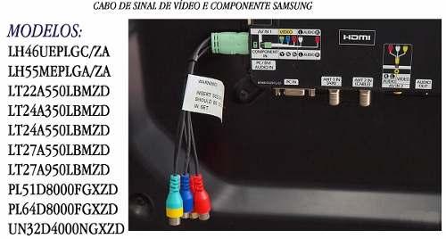 Cabo Adaptador Para TV Samsung D5500  - LD Cabos Soluções Áudio e Vídeo